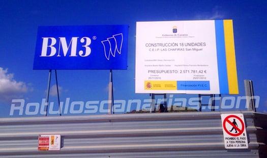 Valla de obra Tenerife BM3