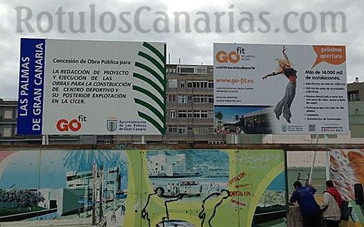 Valla publicitaria Canarias