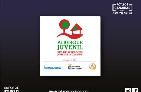 Placa Albergue Juvenil Canarias