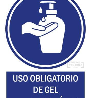 Uso Obligatorio de gel Hidroalcohólico