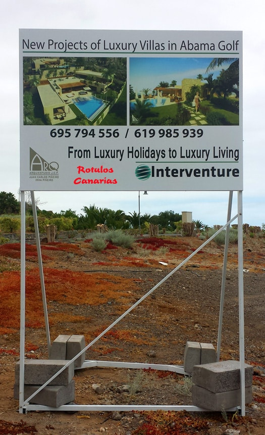 Valla de obra provisional inmobiliaria tenerife