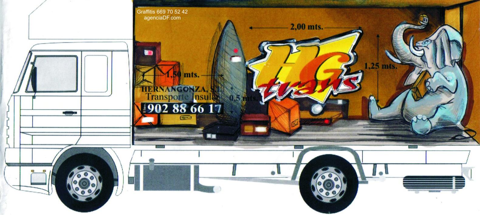 boceto graffiti camiones