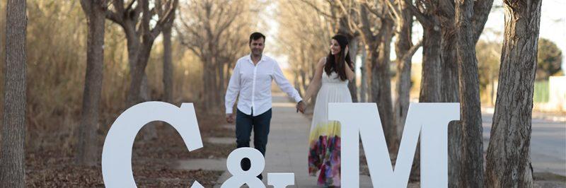 Letras de porexpán para bodas y eventos