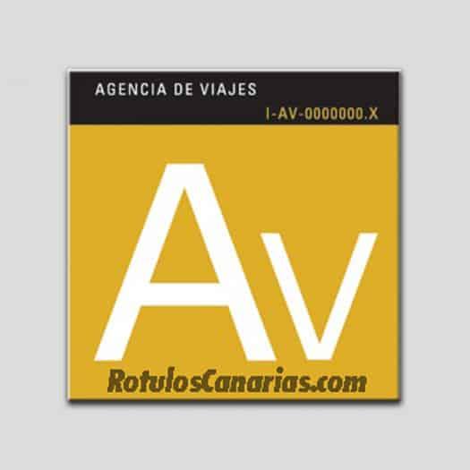 placa-distintivo-agencia-de-viajes-canarias