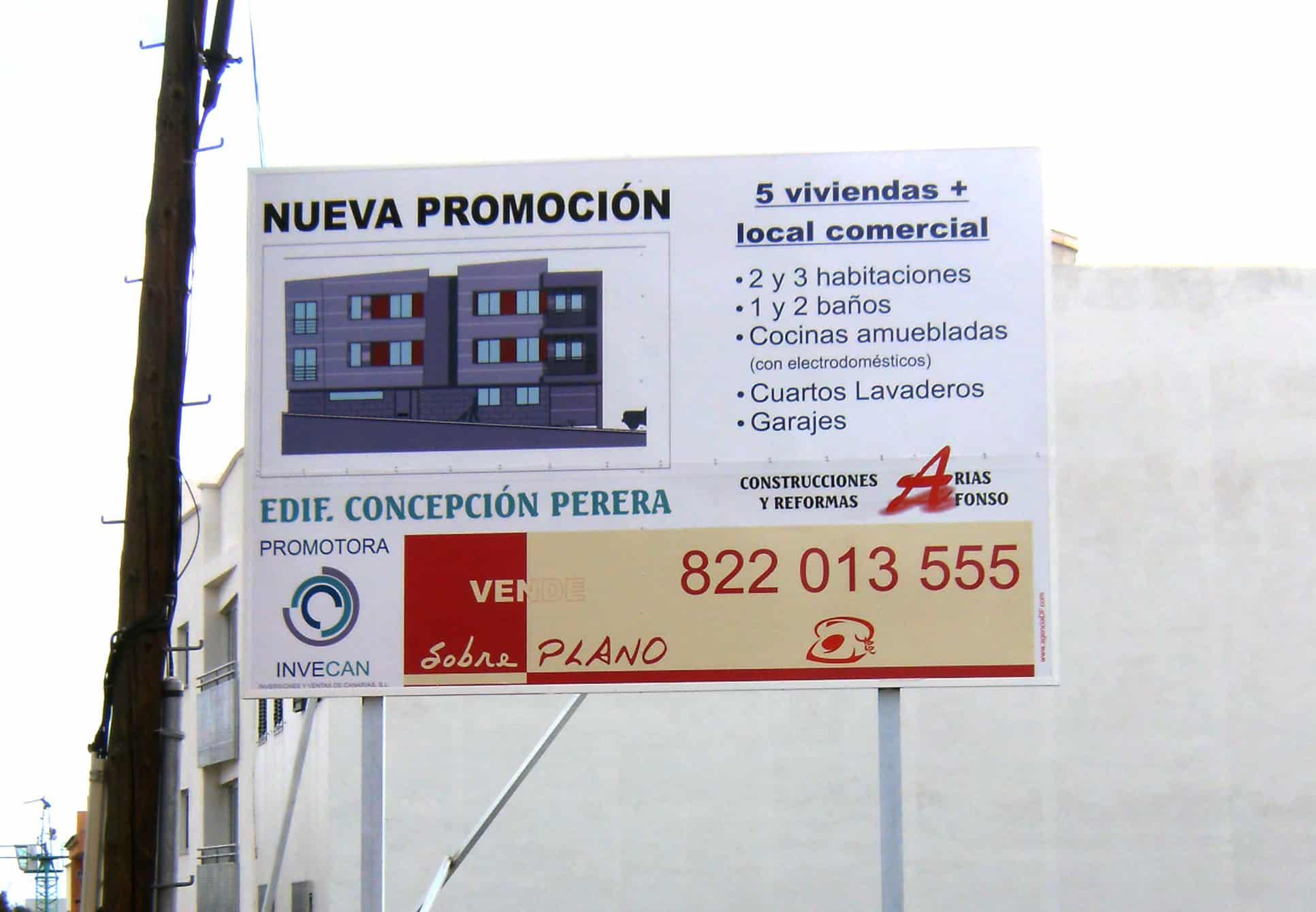 Vallas publicitarias y vallas de obra r tulos canarias - Constructoras tenerife ...