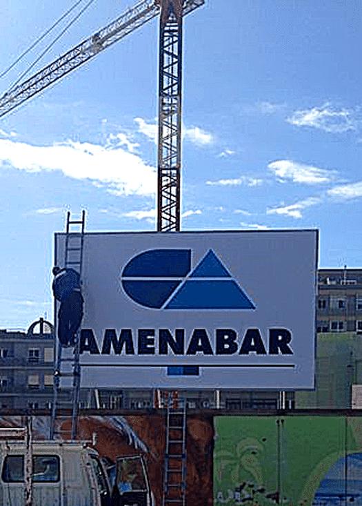 Valla de obra para constructoras en canarias r tulos canarias - Constructoras tenerife ...